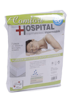 MATTRESS COVER 2P HOSPITAL COMFORT IMPERM