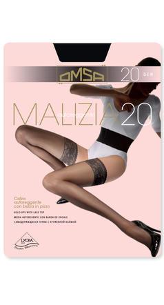 prodotto caldo buona consistenza scarpe a buon mercato CALZA DONNA AUTOREGGENTE MALIZIA 20 258OM OMSA   Ingrosso CALZE E ...